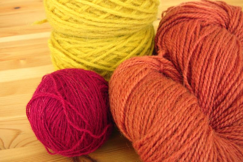 plantdyed yarn