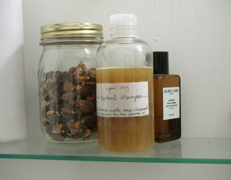 homemade herbal shampoo