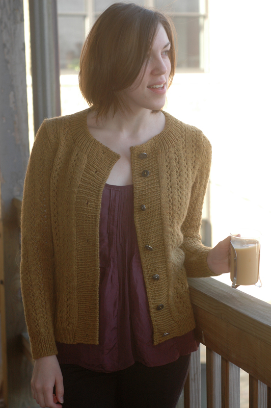 bayview street cardigan, finished