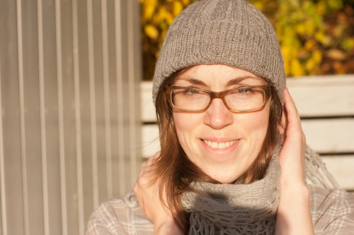 knitted wool cable hat